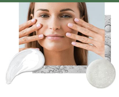 vârfuri hidratate ale pielii